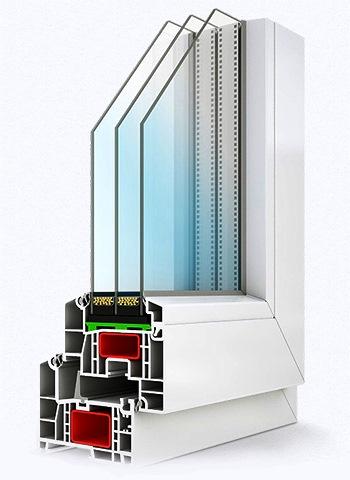 Установка стеклопакетов на балконных рамах из ПВХ