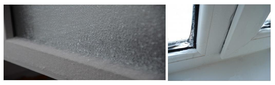 Замерзание окон, почему потеют окна?